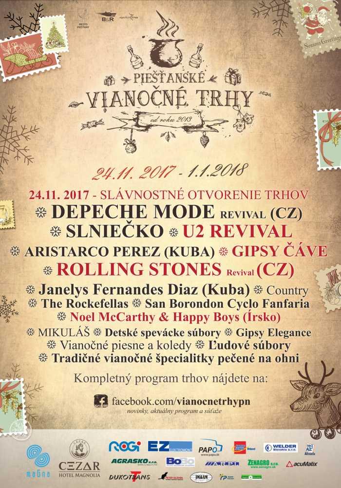 Tradičné Piešťanské Vianočné trhy 2017 plagát