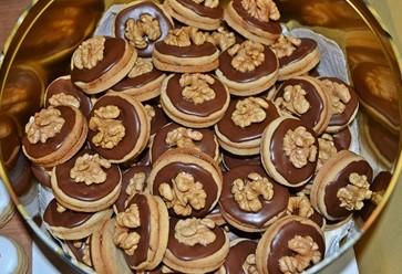 Čokoládovo-orechové kolieska